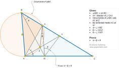 Geometry Problem 1322: Triangle, Angle Bisector, Circumcircle, Chord, Secant, Sum of Angles
