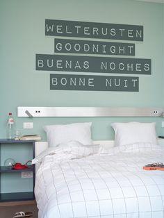 WALL*MANIA sticker #wallmania #muursticker #quote #welterusten #bonnenuit #goodnight