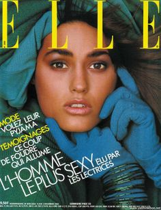 Cover of Elle France with Yasmin Le Bon - Magazine - December 1985 - Profile on FMD