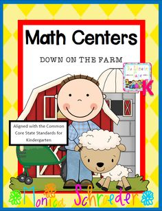 This file is a 37 page download of my Common Core aligned Kindergarten Math Centers: Down on the Farm. Your students will love interacting with these centers! Included in this file you will fine the following centers  $6.99