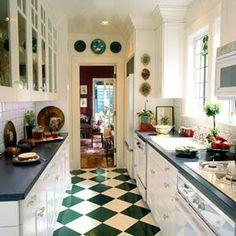 Green/bisque Checkerboard Floor.