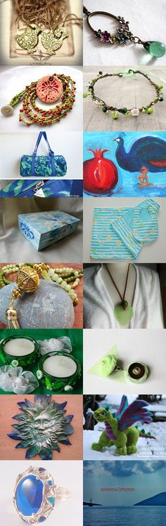 Blue and Green mark the Spring! :)  by Maria Kasioni on Etsy--Pinned with TreasuryPin.com