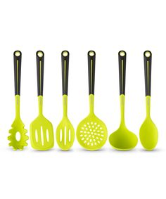 Look what I found on #zulily! Green Six-Piece Silicone Utensil Set by Art & Cook #zulilyfinds