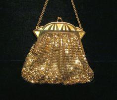 1930s Purse Art Deco Purse Gold Mesh Purse Whiting And Davis Formal Purse Evening Purse Wedding Purse Handbag