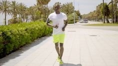Man Wearing Bright Yellow Shorts And Music Device #African, #Beach, #Black, #DanielDash, #Exercise, #Fitness, #Guy, #Handsome, #Male, #Man, #Muscular, #Outdoor, #Running, #Summer, #Tropical, #Workout http://goo.gl/Ut7ZHj