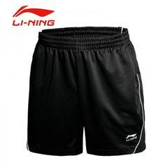 Li-Ning Mens 2015 Dong Guan The 14th Sudirman Cup Badminton TD Shorts - Black On Sale Badminton Clothing, Gym Men