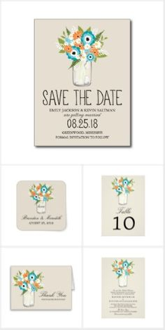 Summer Tropics Mason Jar Wedding Collection