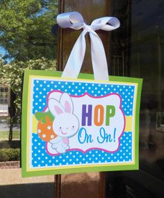Easter Door Sign Printable  Instant Download  by ThatPartyChick, $8.00
