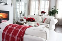 a touch of red adds all the color one needs at the holidays