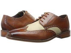 1920s men's shoes - Florsheim - Castellano Wingtip Oxford (Bone/Saddle Tan) Men's Lace Up Wing Tip Shoes
