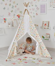 Butterfly Teepee - tipi - wigwam - kids teepee, teepee tent, play tent