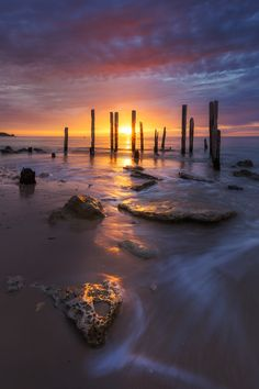 Ebb - Port Willunga Jetty South Australia, by Dylan Toh & Marianne Lim...