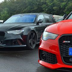 Black on red or allblack? 2x #Audi #RS6 oooo : @speedgeneration oooo #audidriven = 'a state of mind' oooo #AudiRS6 #RS6Avant #blackAudi #redAudi #quattro #quattroGmbH #AudiSport #v8 #biturbo #turbo #Audicolor #black #wantanRS6 #AudiSportcars #supercar #supercars #CarsWithoutLimits #carsofinstagram #amazing #beautiful #AudiRS #allblack #blackoptics #blacklist #blackwheels