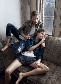 modern romance: rosie tapner and kristine froseth by lachlan bailey for w march 2014