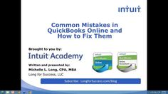 Unfortunately, many people make mistakes in QuickBooks Online. Learn about some of the most common mistakes and how to fix them. We will cover list errors (c. Quickbooks Online, Business Money, Mistakes, Making Ideas, Growing Up, Accounting, How To Make Money, Finance, Success