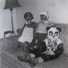 Halloween, children in blackface, 1959.
