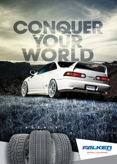 Honda Tuning Magazine Advertising, Conquer Your World, Azenis
