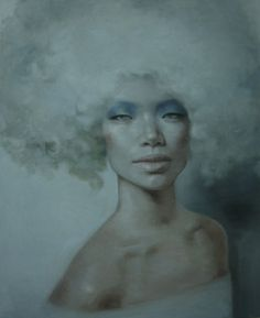 """Saatchi Online Artist Yu Zhang; Painting, """"With A Wig"""" #art"""