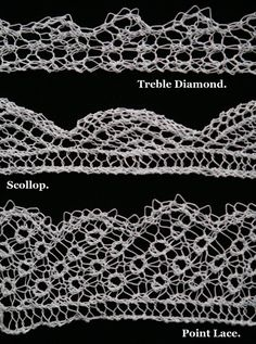 knitted lace with chart