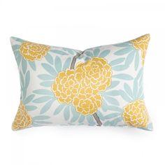 mustard & sky    Caitlin Wilson Textiles: Mustard Fleur Chinoise Pillow