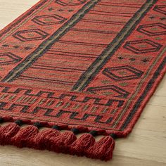 Shop Inferno Wool Dhurrie Runner 2. 5'x8'. Reminiscent of textiles from the American Southwest and rural Mexico, our handwoven wool dhurrie rug is rich in tone and pattern.