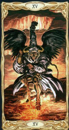 XV. The Devil - Epic Tarot by Riccardo Minetti, Paolo Martinello  - TAROTPEDIA MAJOR ARKANA - IV