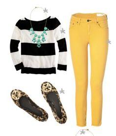 B&W + Yellow + leopard