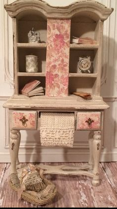 1:12th Dollhouse Miniature Ladies Hutch on Etsy, $110.00