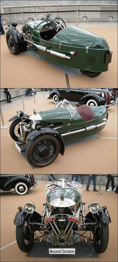 Impress in stylish sun dimmers! Classic Sports Cars, Classic Cars, Vintage Motorcycles, Cars And Motorcycles, Morgan Motors, Morgan Cars, Automobile, Reverse Trike, 3rd Wheel