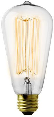 Antique-looking lightbulbs and home decor