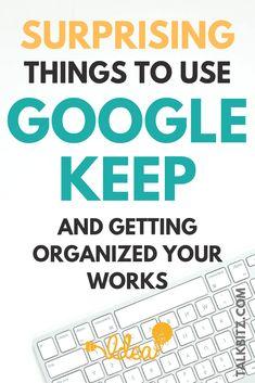 Gmail Hacks, Google Tricks, Google Keep, Business Notes, Google Calendar, Time Management Tips, Google Account, Google Classroom, Teaching Tips