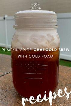 Pumpkin Spice Chai Latte Recipe, Pumpkin Spice Creamer, Pumpkin Spice Coffee, Tea Recipes, Kitchen Recipes, Drink Recipes, Fall Recipes, Smoothie Drinks, Smoothies