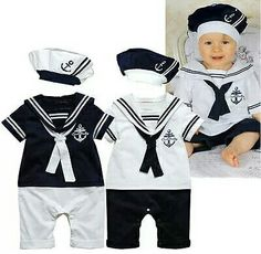 Cheap hat wool, Buy Quality suit soccer directly from China hat style Suppliers: Retail New fashion Summer Newborn navy style baby romper suit kids boys girls rompers+hat body summer short-sleeve sailor suit Romper Suit, Baby Jumpsuit, Baby Boy Romper, Romper Pants, Baby Overalls, Jumpsuit Outfit, Romper Dress, Baby Bodysuit, Baby Kostüm