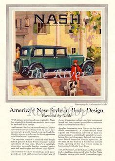 Color Nash Car Ad  1920s Vintage Advertising  by riverrockshop