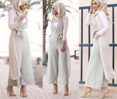 Hijab Fashion 2016/2017: pastel green jumpsuit hijab style- Casual chic hijab 2016 www.justtrendygir
