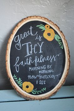 Hymn Wood Round Great is Thy Faithfulness by WhyteHouseMarket