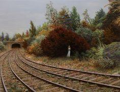 Aron Wiesenfeld : Delayed , oil on canvas, 31 x 40 in / 79 x 102 cm, 2012