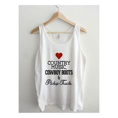 Love Country Music Cowboy Boots Pickup Trucks Unisex Tank Top