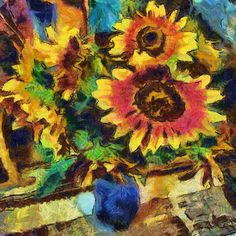 https://flic.kr/p/ZJx1JG | Sunflowers at the cottage | However, this photo, even unusual, but a photo. Once artists went to the impressionism, why don't photographers do the same.