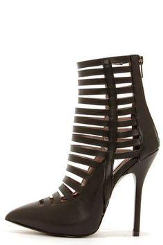 steve madden lauper black caged high heels | Steve Madden Lauper Black Caged High Heels at Lulus.com!