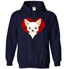 Mens Full-Zip Hooded Chihuahuas Art Print Fleece Sweatshirt