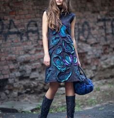 Felted dress by Diana Nagornaja