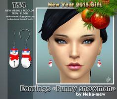 Neka-mew: Funny snowman • Sims 4 Downloads