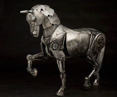 """Andrew Chase's """"steampunk"""" mechanical horse"""