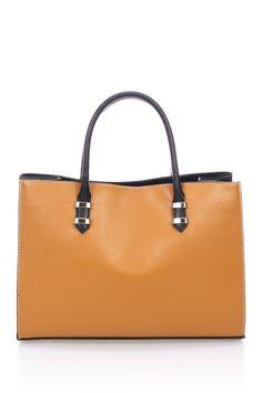 340192491dd43 Massimo Castelli Saffiano Leather Satchel