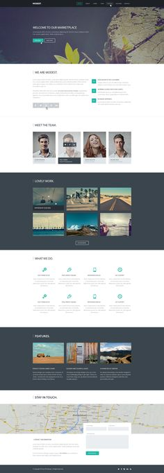 Modest – PSD Landing Page | GraphicBurger