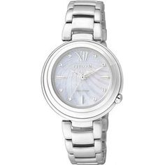 Women's Citizen Watch Eco-Drive Mother of Pearl - Crivelli Shopping Online Watch Store, Made In Japan, Citizen Eco, Watch Companies, Watch Sale, Elegant, Michael Kors Watch, Bracelet Watch, Shops