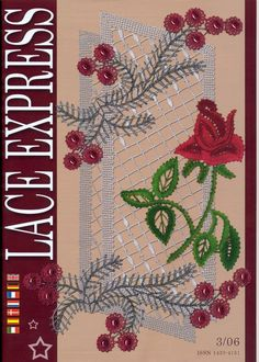 "Журнал ""Lace Express"" 2006 №3 Bobbin Lace Patterns, Crochet Patterns, Crochet Dollies, Point Lace, Book And Magazine, Needle Lace, Irish Lace, Lace Embroidery, Lace Making"