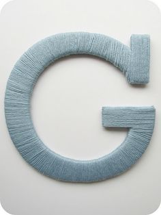 Yarn-wrapped letters on the cheap