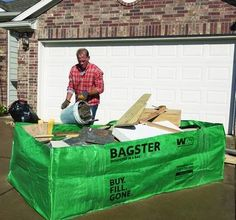 The Bagster Bag Helps Dad Cleanup On Father S Day Remodel Diy Action